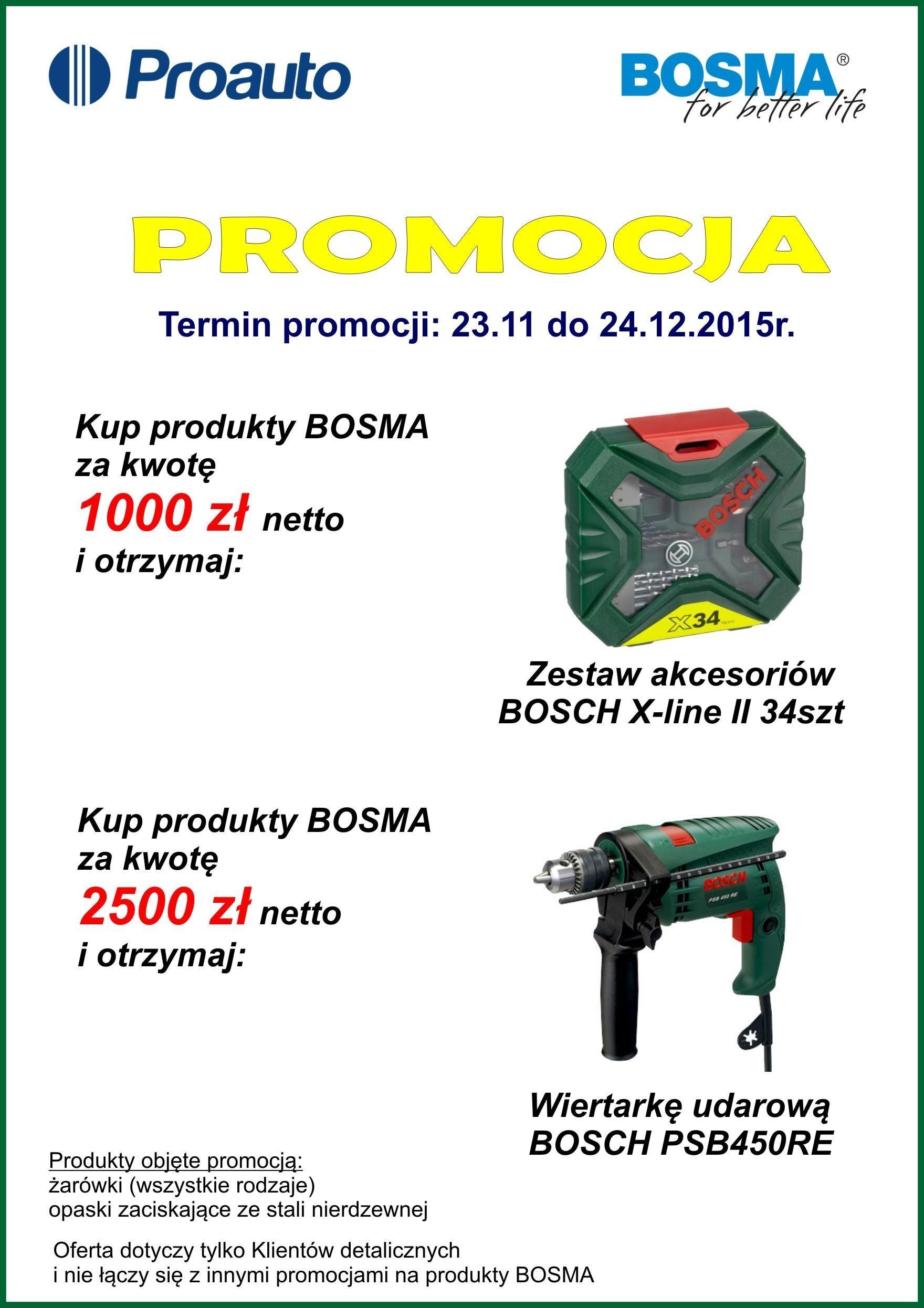ulotka Bosma - Promocja produktów BOSMA