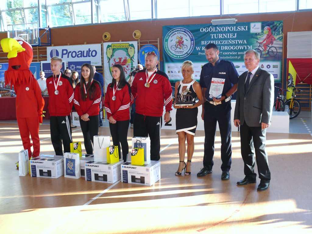 P1340350 - XLI Finał Ogólnopolskiego Turnieju Bezpieczeństwa  w Ruchu Drogowym dla uczniów szkół podstawowych i gimnazjalnych w Przelewicach