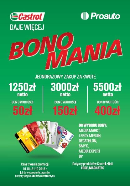 Bonomania Edycja 2 - Promocja Castrol Daje Więcej Bonomania Edycja II